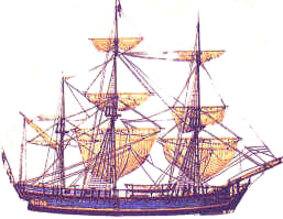 HMS Bounty. Source: Norfolk Island Website